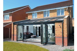 lean to conservatory with bifold doors