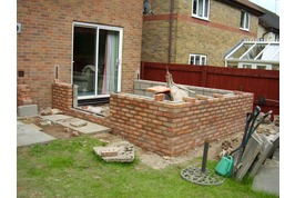 brickwork being built