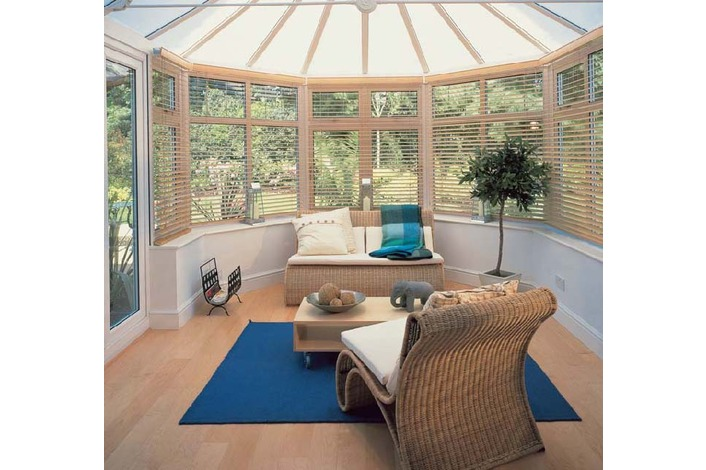 Victorian with opal polycarbonate roof internal view