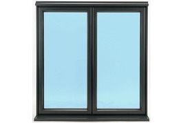 aluminium window with concealed trickle vents