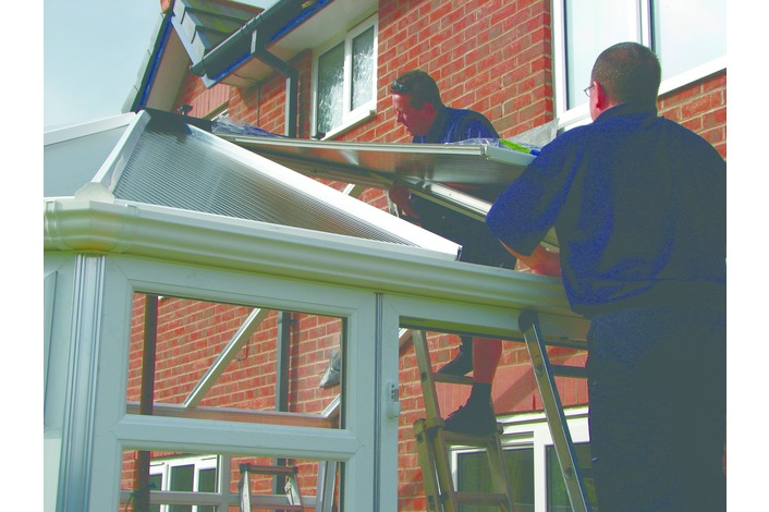 Double glazed sealed units or polycarbonate roof panels are installed.