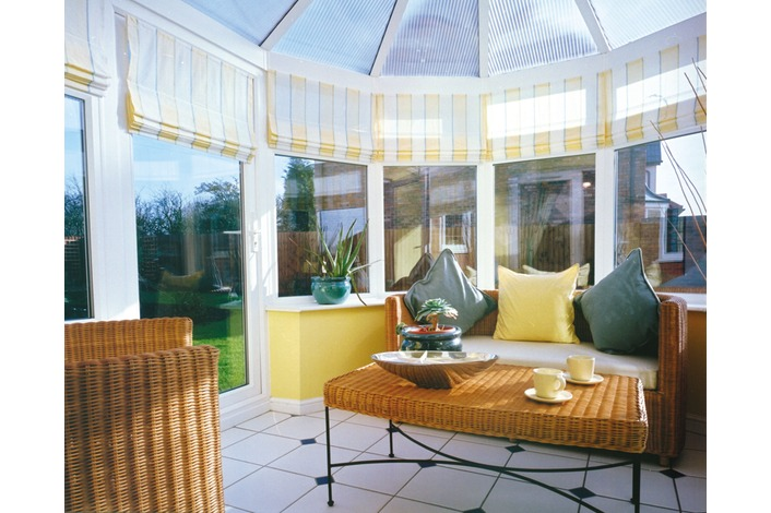 Internal view of a white victorian conservatory