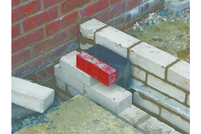 Existing air bricks are transferred through the base work.