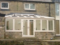 cream lean to conservatory