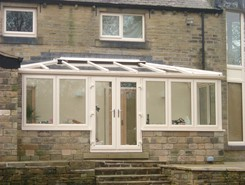 Hipped Lean to conservatory
