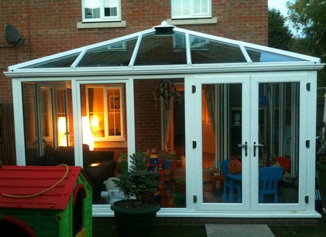 White Sunroom Conservatory