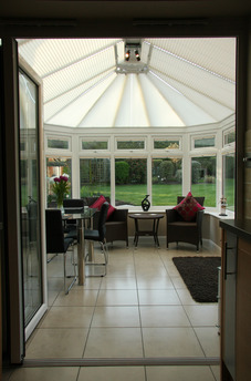 Bifold door into conservatory