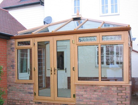 Irish Oak Edwardian Conservatory