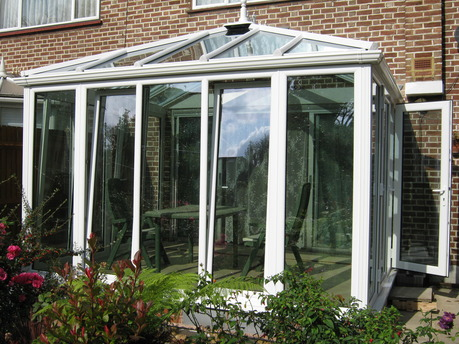 White Edwardian Sunroom Conservatory
