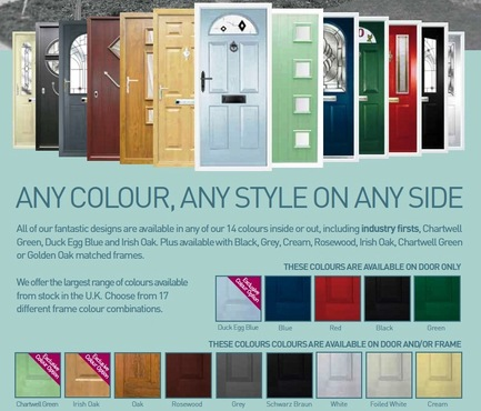 composite door styles and colour options